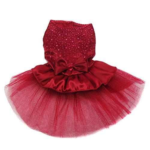 Alfie Pet by Petoga Couture - Shirley Tutu Party Dress - Color: Burdundy, Size: Small by Alfie (Image #1)