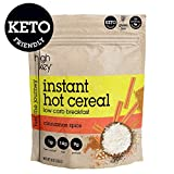HighKey Snacks Keto Instant Hot Cereal Breakfast - Gluten & Grain Free - Perfect Ketogenic Friendly Food - Low Carb, High Protein Products - Good for Desserts, Atkins and Diabetic Diets - 9oz Larger Image