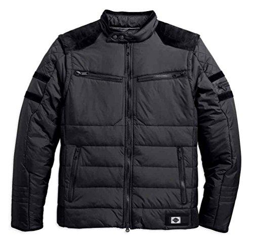 Harley-Davidson Men's Burnside Avenue Convertible Jacket, Black 97594-17VM - Avenue Quilted Vest