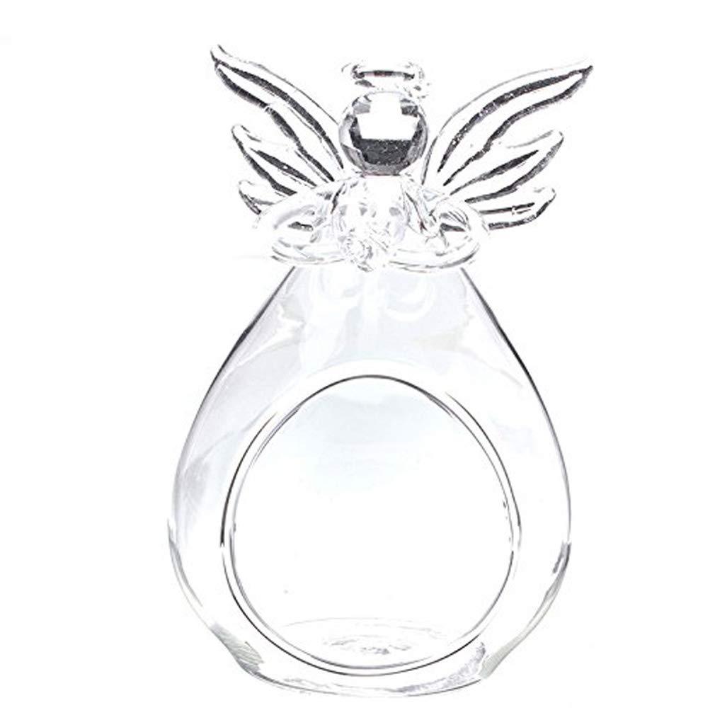 Angel Glass Crystal Hanging Tea Light Candle Holder Home Decor Candlestick Micro landscape vase Ornaments