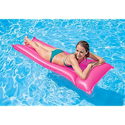 Intex Neon Frost Air Mat Inflatable Pool Lounge Raft: Toys & Games
