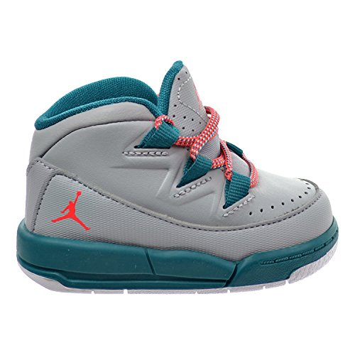 Modified Emerald - Jordan Deluxe GT Toddler's Shoes Wolf Grey/Bright Crimson/Radiant Emerald 807716-007 (4 M US)