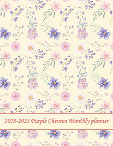 2019-2023 Purple Chevron Monthly planner: 60 Months Pretty Simple Calendar Planner - Get Organized. Get Focused. Take Action Today and Achieve Your Goals