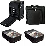Zuca Professional's Kit: Flyer Case with Built-In Seat, and Artist Backpack with Extra Pouches
