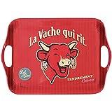 LVQR Diffusion 620102 Vintage Plateau Motif La Vache qui Rit Mélamine Rouge 41 x 30 cm