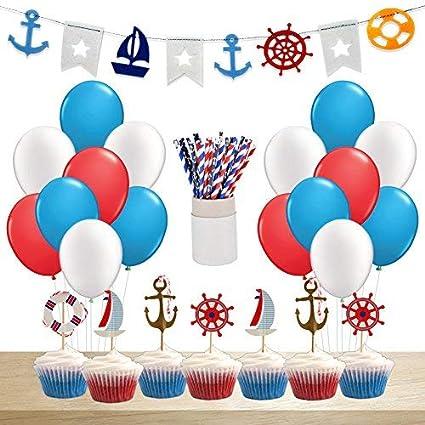 Amazon.com: Nautical Party Supplies & Decorations Nautical ...