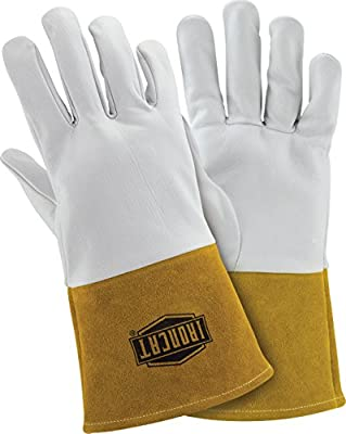 IRONCAT 6141 Premium Top Grain Kidskin Leather TIG Welding Gloves, 1 Pair