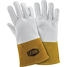IRONCAT 6141/XL Premium Top Grain Kidskin Leather TIG Welding Gloves, XL, Pearl