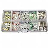 Gracefulvara 160PCS Dental Glass Fiber Post + 32PCS Drills