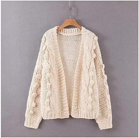 JINIUYX Women's Hollow Long Knitted Cardigan Sweater Autumn