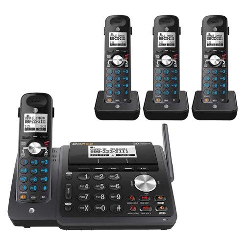 - AT&T TL88102 2-line answering System with 3 Handsets (Black)