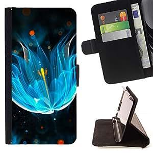 For Sony Xperia Z5 Compact Z5 Mini (Not for Normal Z5) Case , abstrakciya neón svet blesk- la tarjeta de Crédito Slots PU Funda de cuero Monedero caso cubierta de piel