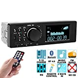 Car Stereo Compatible with Bluetooth Single Din Car Stereo - Multimedia Car Stereo LCD, Audio and Calling, Built-in Microphone, MP3 Player, WMA, USB, Auxiliary Input, FM Radio Receiver, Remote Control -  Yakalla