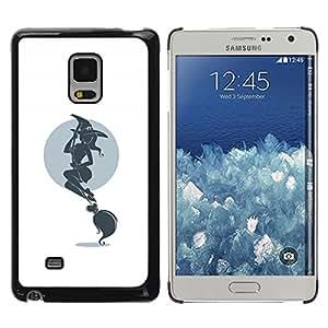 Shell-Star Arte & diseño plástico duro Fundas Cover Cubre Hard Case Cover para Samsung Galaxy Mega 5.8 / i9150 / i9152 ( Hot Witch & Broom )