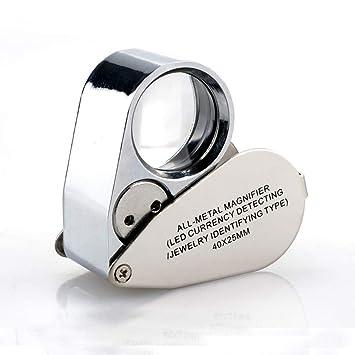 WSC Alta magnificación Diamante Código de la cintura Joyería Identificación de antigüedades Lupa de mano 40