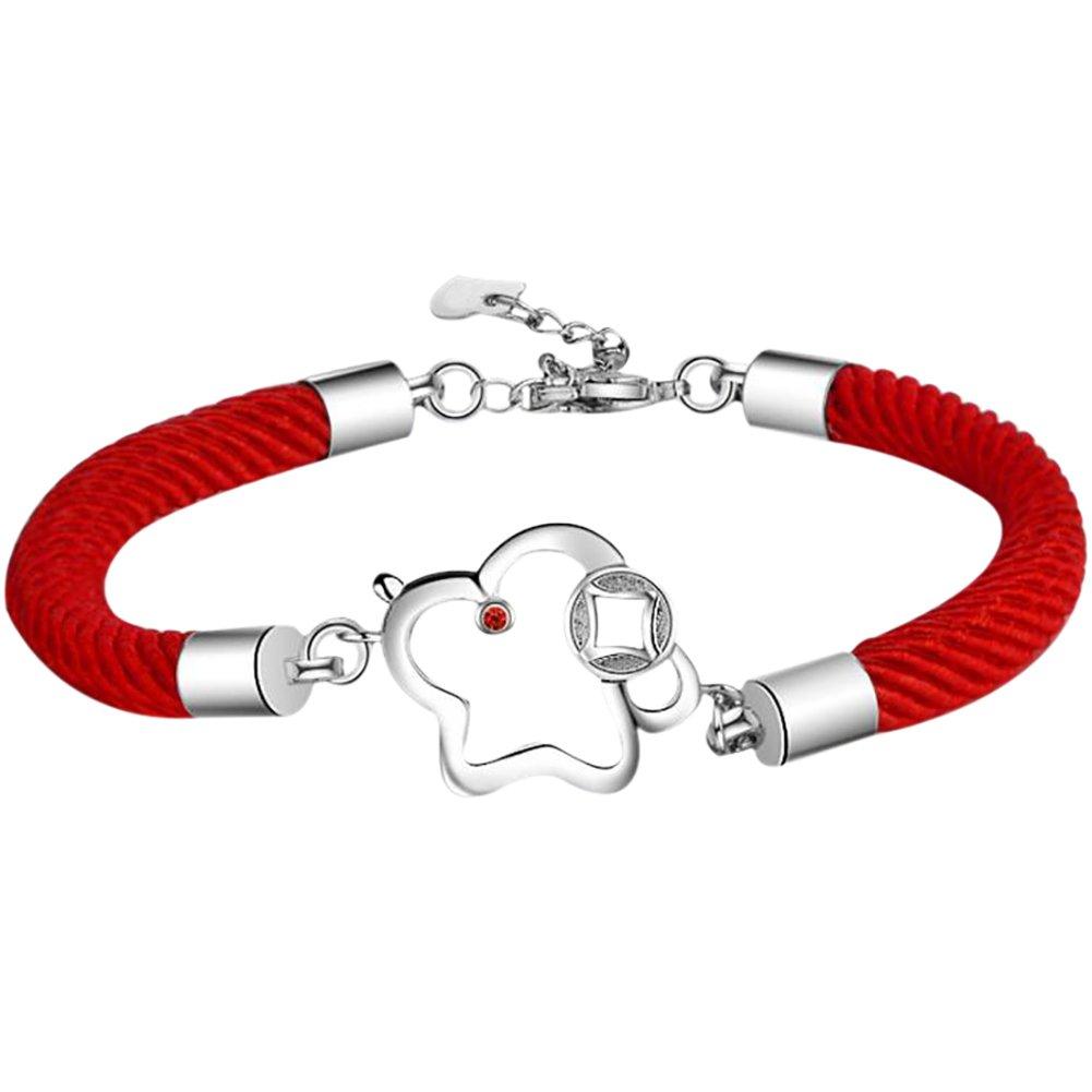 Aikesi Pulseras Mujer Cuerda roja Trenzada Pulsera ensueñ o Platino Plateado Joyas para Mujer Regalo de cumpleañ os Fiesta de Boda Fiesta Hermosa Accesorios Joyeria