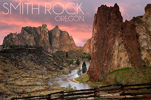 Oregon - Smith Rock (12x18 SIGNED Print Master Art Print w/Certificate of Authenticity - Wall Decor Travel Poster) ()