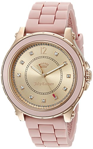 Juicy Couture Women's 'Hollywood' Quartz Resin and Silicone Casual Watch, Color:Pink (Model: 1901417) (Juicy Couture Model)