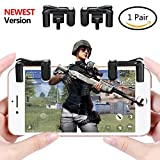 Mobile Game Controller[Upgrade Version], Yobenki Sensitive Shoot and Aim Keys L1R1 Shooter Controller for PUBG/Fortnite/Rules of Survival, Mobile Gaming Joysticks for Android IOS(1 Pair)