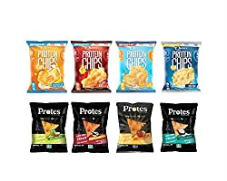 Snack Protein Chips Variety Packs - Includes Quest Nutrition Protein Chips & Protes Protein Chips. (8)