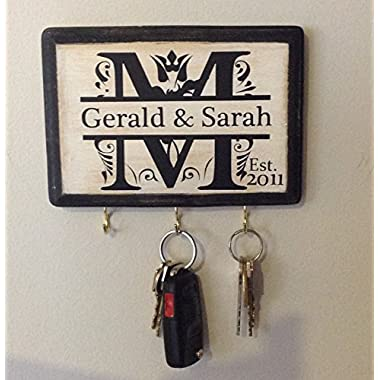 Personalized Monogram Key Holder.
