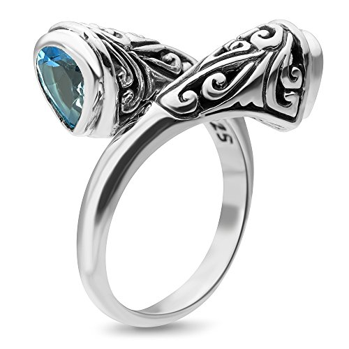 Sterling Silver Filigree Topaz Jewelry