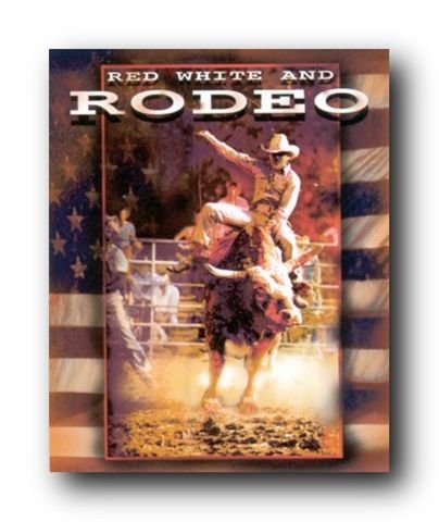 Vintage Western Wall Decor Rodeo Picture Cowboy Horse Riding Art Print Poster (16x20)