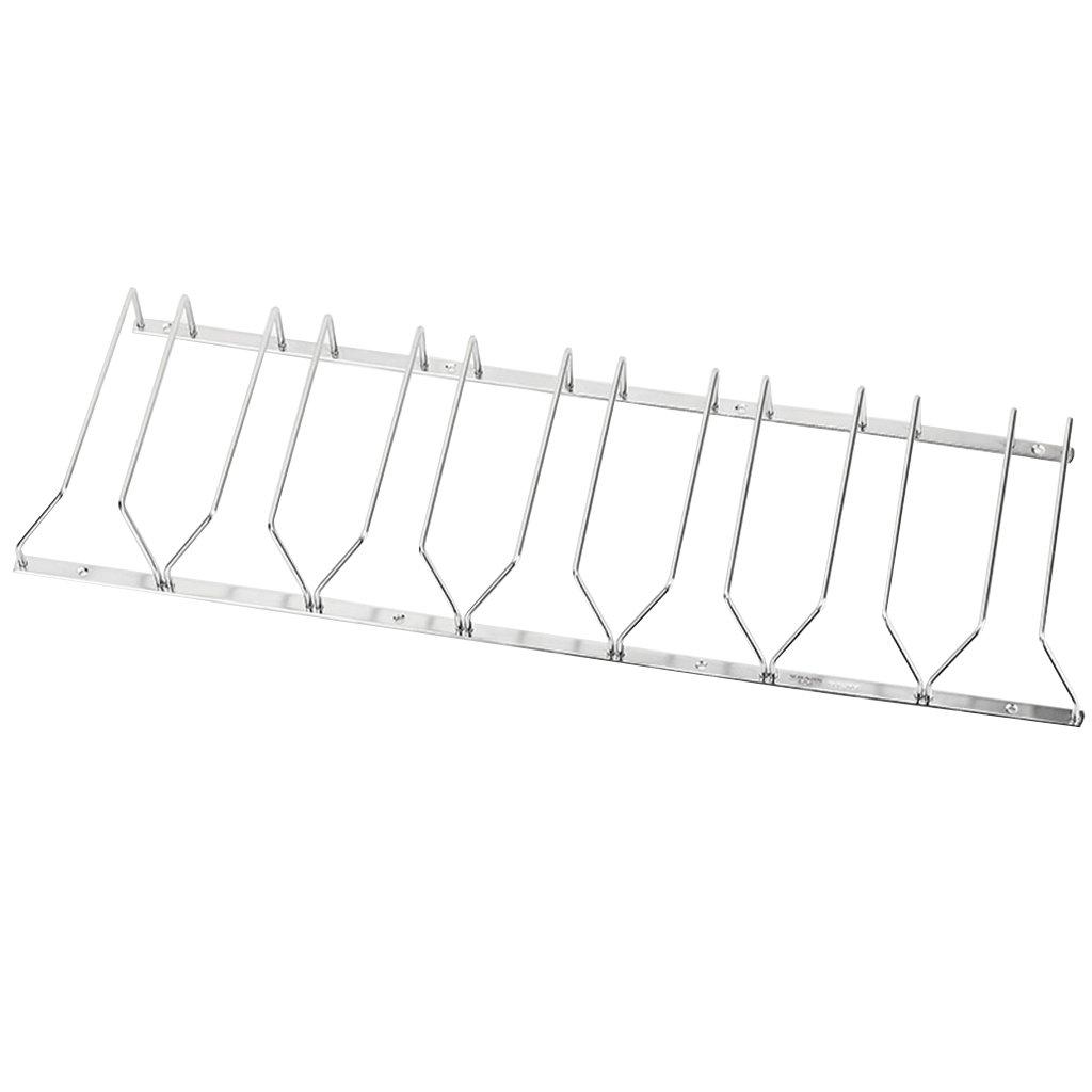Nclon Edelstahl Stemware Gestell Halter stemware Racks Gl/äserhalter Kopf/über H/ängend Cup Weingl/äser Halter Rostschutz-Silber 11.8 22cm