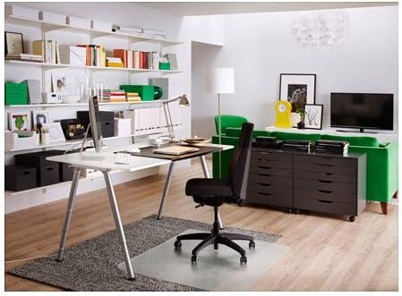 Ikea Thyge - Escritorio ajustable, color blanco, plata, con ...