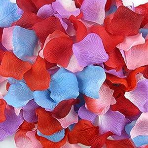 Flower Petals - 100pcs Artificial Rose Flower Petals Silk Petalos De Rosa Boda Wedding Party Crafts Festive - Maroon Yellow In Girls Pasties Bulk Shoes Plum Weddings Rustic 27