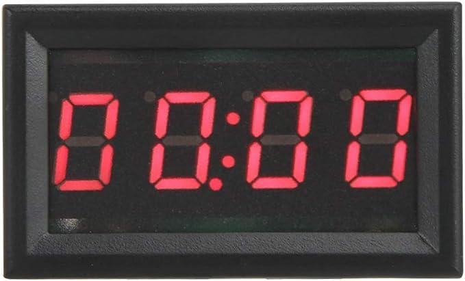 Topzon Auto Elektronische Uhr Led Elektronische Digitale Leuchtende Auto Uhr Zubehör Dekoration Rot Grün Blau Farbe Red Küche Haushalt