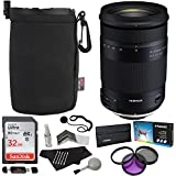 Tamron 18-400mm F/3.5-6.3 DI-II VC HLD All-In-One Zoom (6 Year Limited USA Warranty) For Canon APS-C Digital SLR Cameras, Sandisk 32GB, Polaroid Filter Kit, Ritz Gear Lens Pouch, and Accessory Bundle