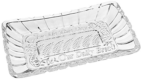 Alexandria Crystal Bread Tray Engraved Give Us This Day Our Daily - Tray Bread Day