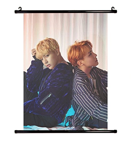 Fanstown Kpop BTS Bangtan Boys Wings wall scroll cloth poster with lomo card 010