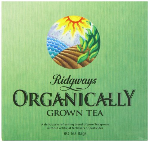 Ridgways Organic 80 Teabags (Pack of 6, Total 480 Teabags)