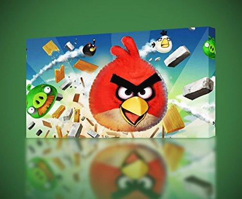 Angry Birds CANVAS PRINT Home Wall Decor Giclee Art Movie CA256, Huge - Bird Giclee Canvas