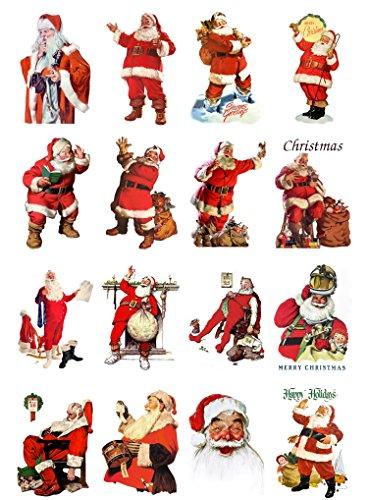Decoupage Paper Pack Vintage Christmas Bells Decorations Fairy FLONZ Vintage Ephemera 10sheets A4 // 8x12