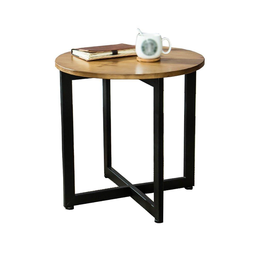 QFF テーブル、コーヒーテーブル、サイドテーブル、ソファサイドテーブルベッドサイドテーブルライティングデスクドレッシングテーブルダイニングテーブルソリッドウッド+アイロン45-50CM テーブル交渉 ( サイズ さいず : A ) B07CM7CCH4 A  A