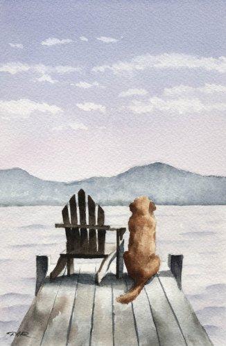 Golden Retriever Art Print by Watercolor Artist DJ Rogers