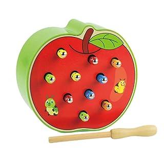 Toyvian Insetti di Legno Montessori Giocattoli magnetici per Bambini