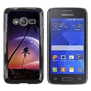 Be Good Phone Accessory // Dura Cáscara cubierta Protectora Caso Carcasa Funda de Protección para Samsung Galaxy Ace 4 G313 SM-G313F // Beautiful Pink Planet Beach Paradise