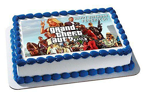 Grand Theft Auto - Edible Cake Topper - 7.5