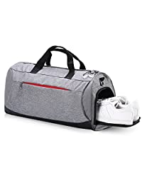 Eocean Sports Gym Bag with Shoes Compartment, Waterproof Gym Sports Bag for Men and Women (Gray)