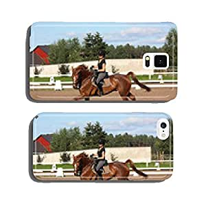 Brunette woman cantering on chestnut horse cell phone cover case iPhone6 Plus