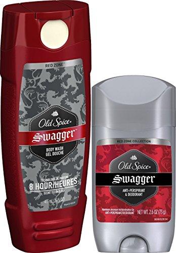 Old Spice 2 Swaggers in 1 Box: Body Wash (16 Fl. Oz) & Deodorant (2.25 Oz.) Combo
