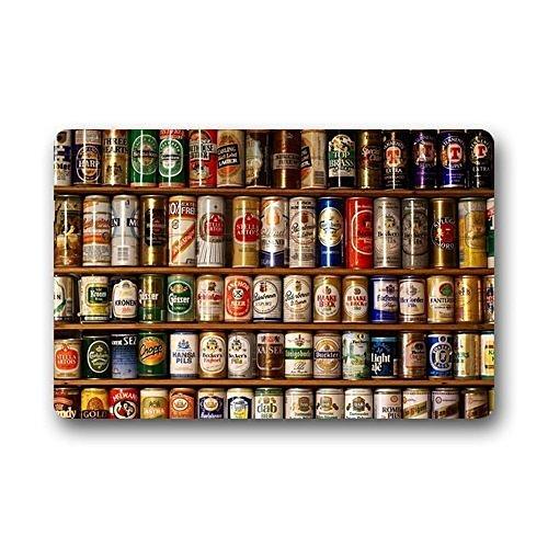 AfagaS Door Mat Bottles Of Beer Art Full Of Cabinet Rectangle Front Doormat Outdoor Indoor Entrance Doormat Heat-resisting Durable Rug Size: 18x30 Inches Family Door Mat Art