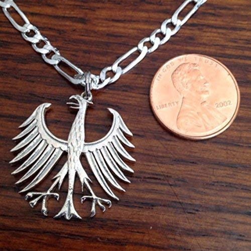 Out Coin Jewelry Necklace Germany Silver Five Mark Necklace ()