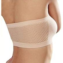 OVERMAL Women Strapless Top Vest Breathable Sports Bras Tank