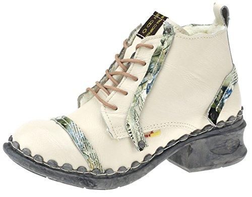 TMA Damen Winter Boots Stiefeletten Comfort Warmfutter 5355 Weiß/Beige
