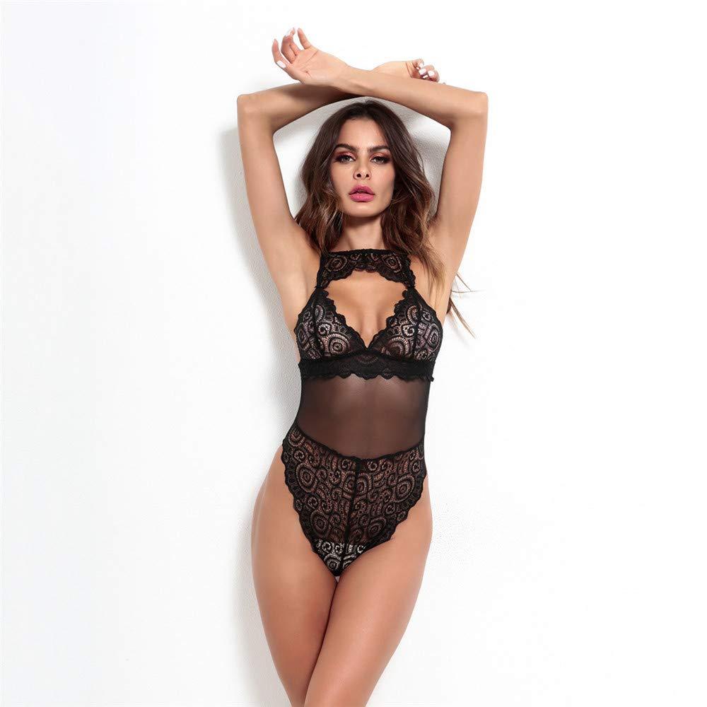zlloo Conjuntos de lencería Mono atractivo del cordón cordón del de la ropa interior de las mujeres atractivas de la lencería sexy, busto de M: 68-94 Cintura: 68-88 Longitud: 67 c280e9